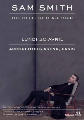 Sam Smith en concert à l'AccorHotels Arena Bercy de Paris en avril 2018