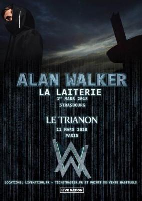 Alan Walker en concert au Trianon de Paris en mars 2018