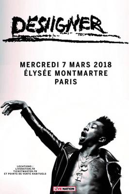 Desiigner en concert à L'Elysée Montmartre de Paris en mars 2018
