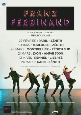 Franz Ferdinand en concert au Zénith de Paris en février 2018