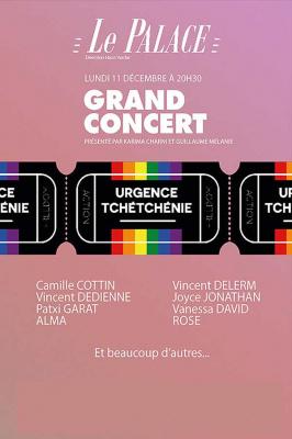 Urgence Tchétchénie : nouveau grand concert au Palace à Paris