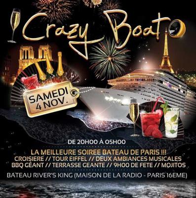 Crazy Boat Party au Bateau River's King