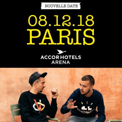 Bigflo et Oli en concert à l'AccorHotels Arena Bercy de Paris en décembre 2018
