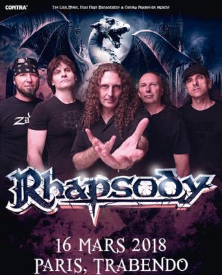 Rhapsody : Farewell Tour au Trabendo de Paris en mars 2018