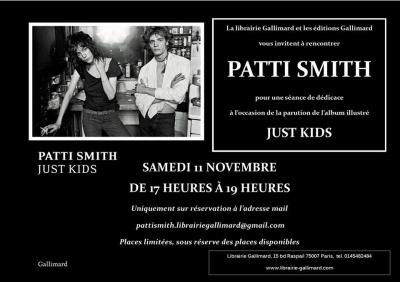 Patti Smith en dédicaces à la librairie Gallimard Paris