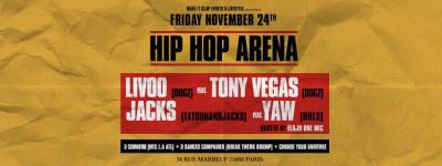 Hip Hop Arena Party x Best Dj's x Powerfull Show au Zig Zag Club