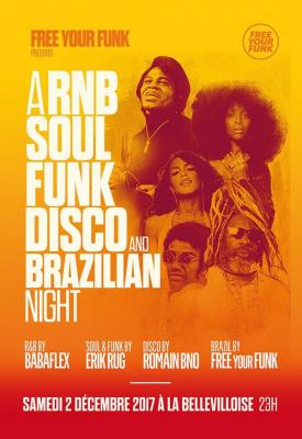 Free Your Funk à La Bellevilloise : R&B, soul, Funk, Disco et Brazilian Night