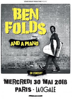 Ben Folds and a piano en concert à La Cigale de Paris en mai 2018