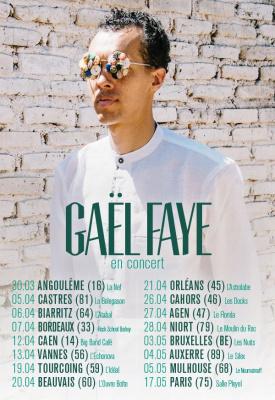 Gaël Faye en concert à La Salle Pleyel de Paris en mai 2018
