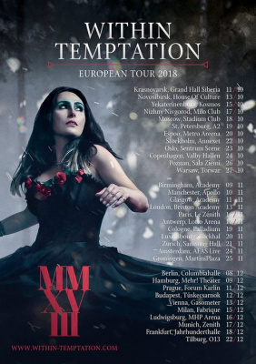 Within Temptation en concert au Zénith de Paris en novembre 2018