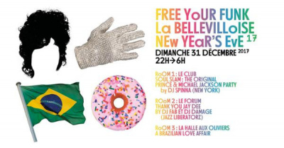 Réveillon 2018 à La Bellevilloise avec Free Your Funk