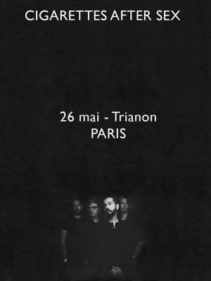 Cigarettes After Sex en concert au Trianon de Paris en mai 2018