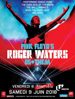 """Roger Waters en concert à la U Arena de Paris La Défense en juin 2018 pour la tournée """"Us + Them"""""""