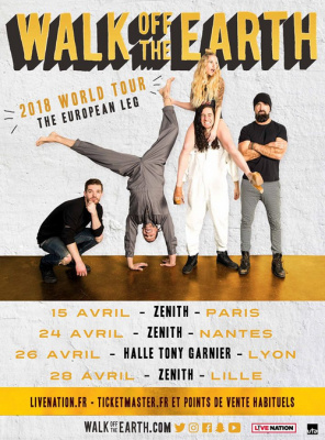 Walk of The Earth en concert au Zénith de Paris en avril 2018