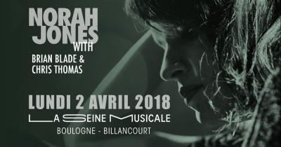 Norah Jones en concert à La Seine Musicale en avril 2018