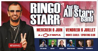 Ringo Starr en concert à l'Olympia de Paris en juin 2018