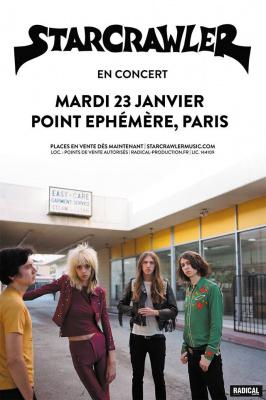 Starcrawler en concert au Point Ephémère de Paris en janvier 2018