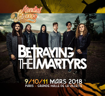 mondial du tatouage 2018 paris betraying the martyrs black moth et the red goes black en. Black Bedroom Furniture Sets. Home Design Ideas