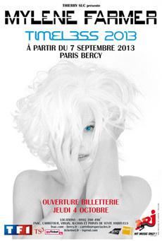 Mylène Farmer en tournée 2013 : date unique à Paris Bercy pour son « Timeless Tour »