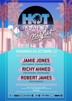 Hot Creations au Showcase avec Jamie Jones, Richy Ahmed & Robert James