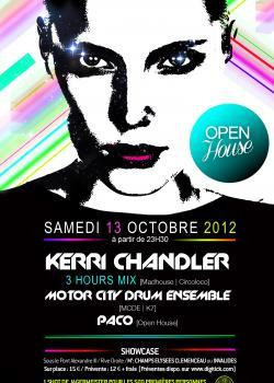 Open House au Showcase avec Kerri Chandler, Motor City Drum Ensemble