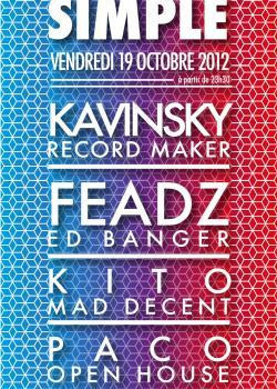 Soirée Blood Simple au Showcase avec Kavinsky, Feadz & Kito