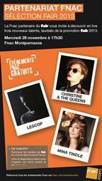 Christine & The Queens, Mina Tindle et Lescop en showcase à la Fnac Montparnasse