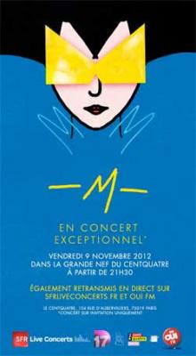 -M-, alias Matthieu Chedid, en concert privé au 104 pour Oüi Fm et SFR Live Concerts