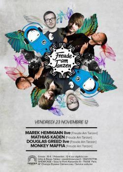 Freude Am Tanzen au Showcase avec Marek Hemmann en live, Mathias Kaden...