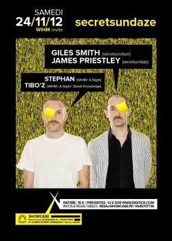 WIHM invite Secretsundaze au Showcase feat. Giles Smith et James Priestley