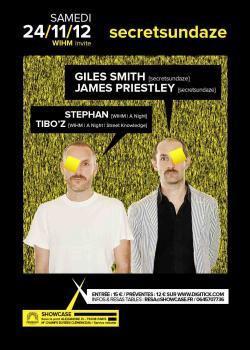 WIHM invite Secretsundaze au Showcase feat. Giles Smith et James Priestley