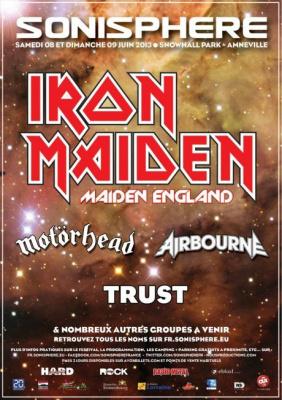 Sonisphère 2013 : Motörhead, Trust et Airbourne rejoignent Iron Maiden