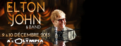 Elton John en concert à l'Olympia en 2013