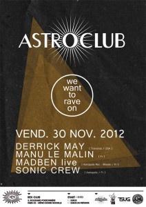 Astroclub : we want rave on au Rex Club