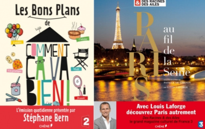 Stéphane Bern et Louis Laforge dédicacent leurs livres à Paris