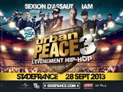 Urban Peace 3 au Stade de France en 2013 avec IAM et Sexion d'Assaut