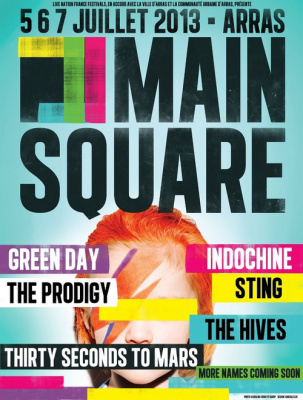 Main Square 2013 : Prodigy, Thirty Seconds to Mars et The Hives rejoignent Sting et Indochine