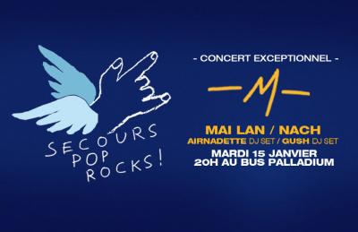 Secours Pop Rocks au Bus Palladium avec -M-, alias Matthieu Chedid