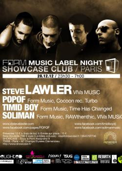 Form Music au Showcase avec Steve Lawler et Timid Boy
