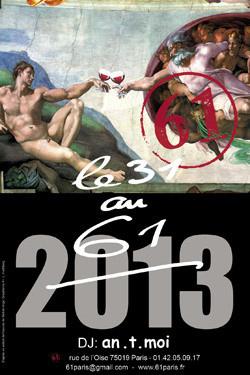 Le dîner du 31 décembre 2012 au 61
