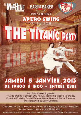 Apéro Swing & Burlesque : The Titanic Party & Revue à la Machine
