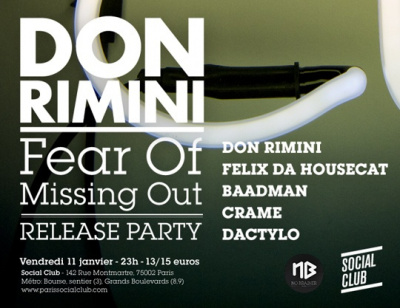Fear of Missing out Release Party au Social Club avec Don Rimini