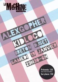 Alex Gopher, Kid Loco et Breton à la Machine du Moulin Rouge