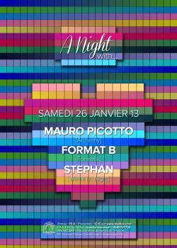 A Night with… Mauro Picotto, Format B & Stephan au Showcase