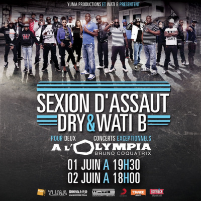 Sexion d'Assaut + Wati B à l'Olympia pour deux concerts