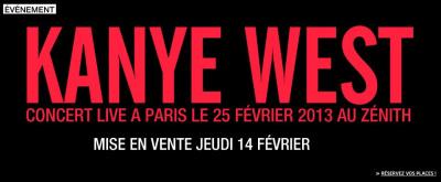 Kanye West au Zénith de Paris le 25 février 2013