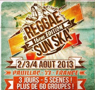 Guide des festivals 2013 : Le Reggae Sun Ska à Pauillac