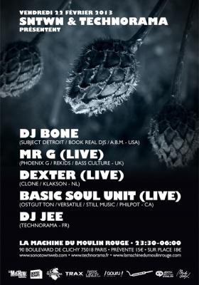DJ Bone + Mr G + Dexter + Basic Soul Unit à la Machine du Moulin Rouge