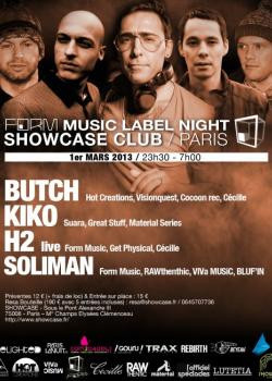 Form Music au Showcase avec Butch et Kiko