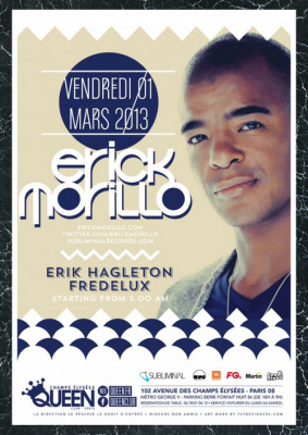 Erick Morillo au Queen Club Paris